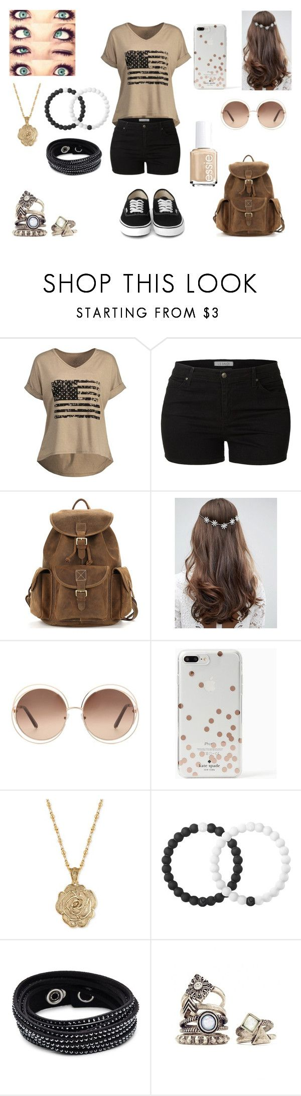 """Anerican Girl"" by foxydeadpool on Polyvore featuring LE3NO, ASOS, Chloé, Kate Spade, 2028, Lokai and Swarovski"