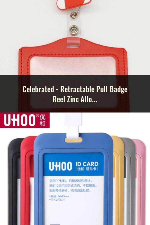 Hard Plastic Business Work ID Bus Card Badge Case Holder Cover W// Hanging Rope