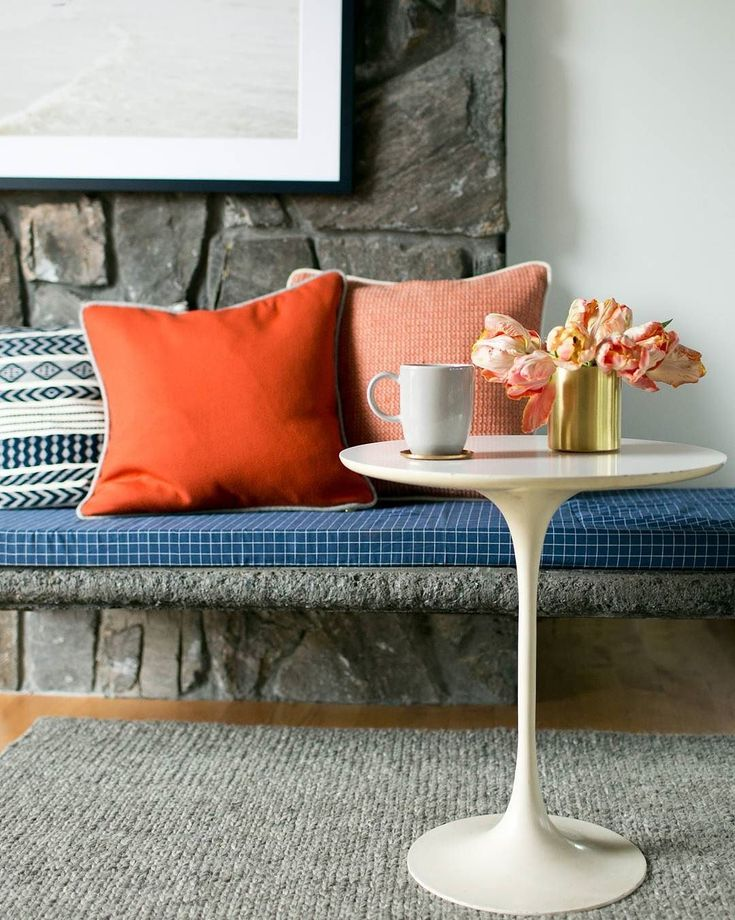 A pop of color that anchors a room as well as any neutral, this tangerine-hued limited-edition wool pillow is sewn by hand in our Portland factory. Generously sized and extra durable, you can throw this one anywhere that needs an extra bit of brightness and cheer. Features a brass YKK zipper and down-filled insert. A Schoolhouse Electric Original. Modern yet timeless, a beautiful play of patterns and raised texture take this throw pillow to new heights. Ethically produced in Guatemala…