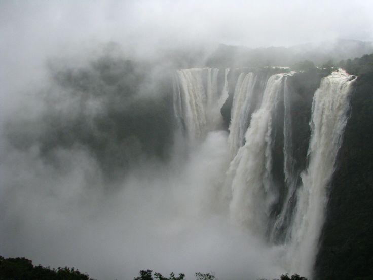 Jog Falls, India as of this morning. [OC][2448X1836]