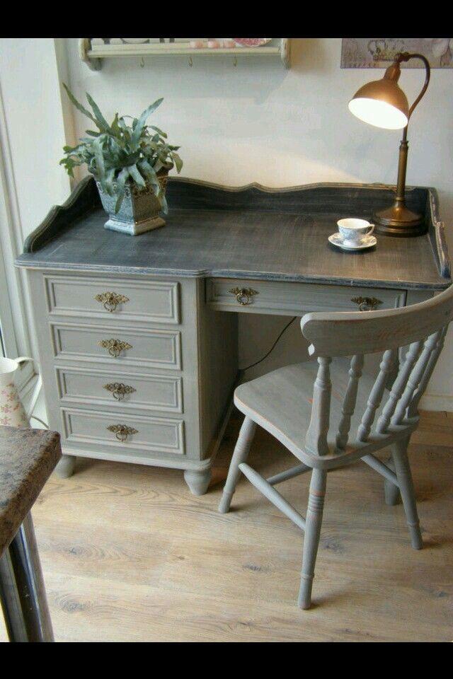 Best 25 Gray Desk Ideas On Pinterest Weathered Grey