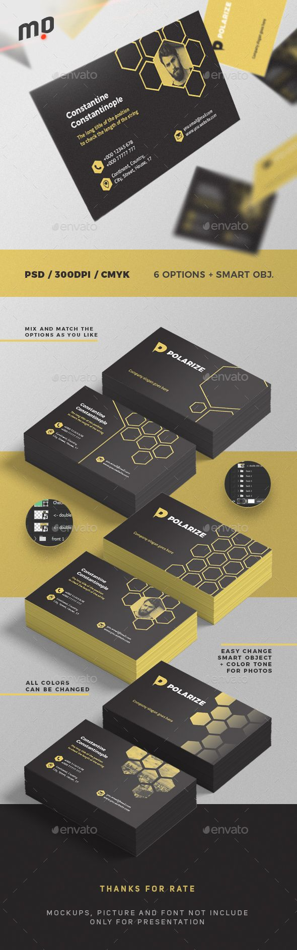 #Business #Card 6 Options - Corporate Business Cards Download here: https://graphicriver.net/item/business-card-6-options/20439346?ref=alena994