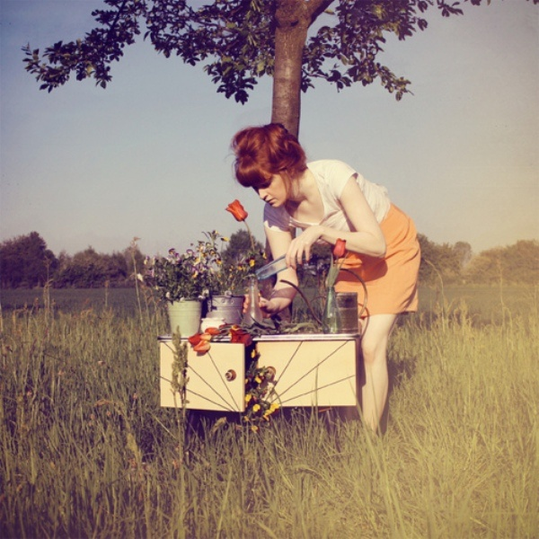 ...: Vintage Flower, Vintage Wardrobe, Boas Tard, Style Pretty, Flower Carts, Carts Ginger, Bookmarks Pictures, Fashion Photography, Lapin Pictures