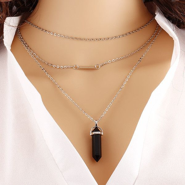 Fine or Fashion: Fashion Item Type: Necklaces Pendant Size: 3.2*1.0cm Style: Trendy Necklace Type: Pendant Necklaces Gender: Women Material: Zinc Alloy Chain Type: Link Chain Length: 42cm+5cm Metals T