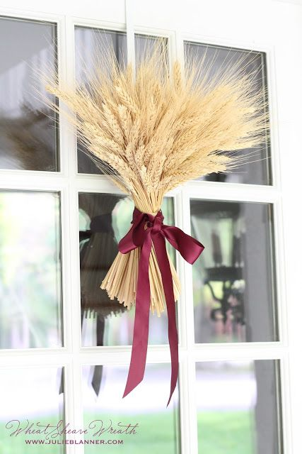 Bring elegance to your entryway this #fall with a wheat sheaf instead of a #wreath.