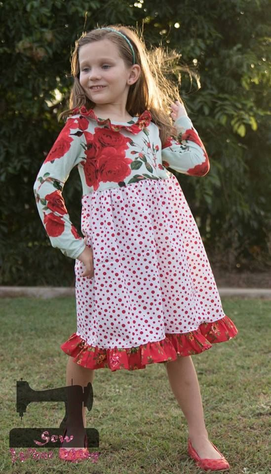 Girls Simply Sweet Tunic & Dress PDF Sewing Pattern by Ellie and Mac