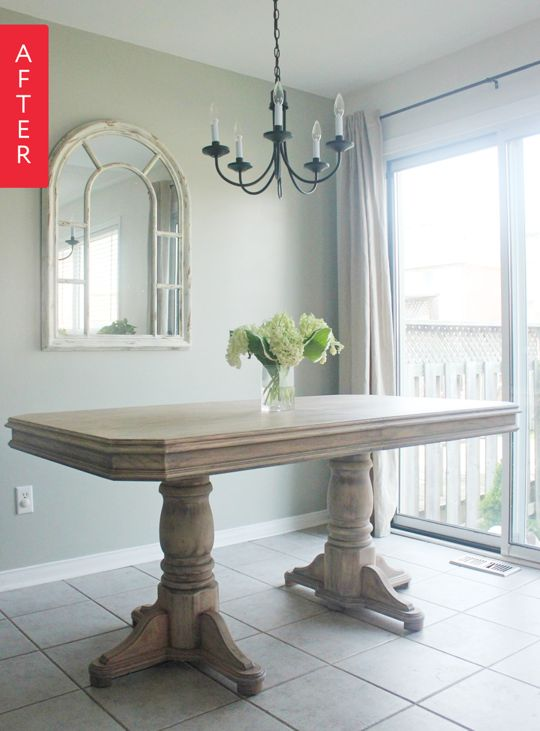 Before & After: $50 Table Goes Farmhouse | Apartment Therapy