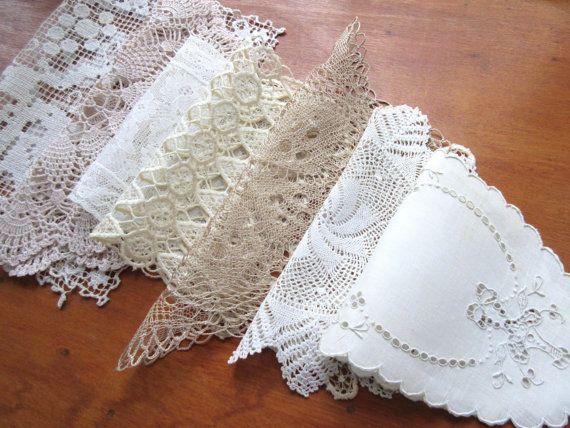 Vintage Doilies  Crochet Napkins  Table  Linen  by Mydaisy2000
