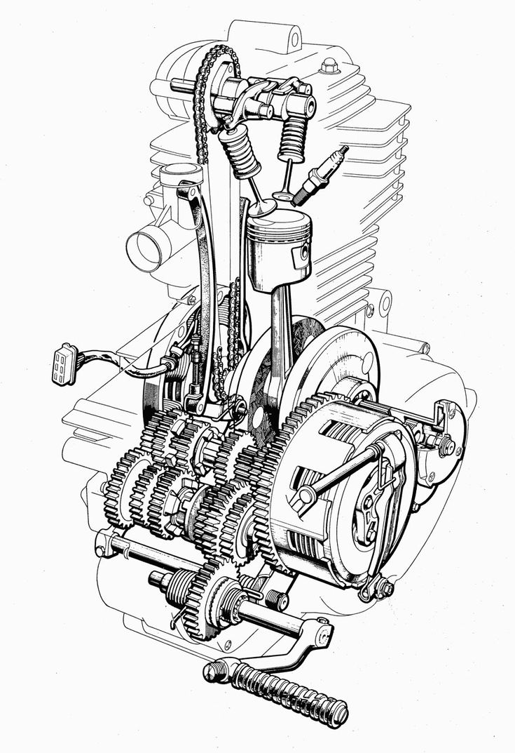 Diagram Motorcycle Pinterest Engine Motorcycles