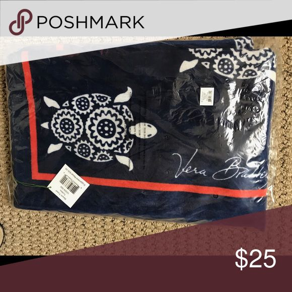 """Vera Bradley Beach Towel - Turtles - NWT Up for sale is a Vera Bradley Beach Towel in the Turtle pattern.  It is new with tag and has never been used.  It measures approximately 33"""" x 66"""" and is 100% cotton.  It comes from a smoke/pet free home. Vera Bradley Other"""