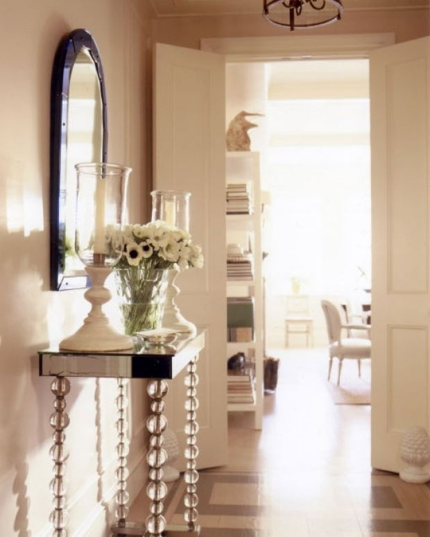 Foyer Ideas For Apartments : Elle decor description entry foyer to a prewar apartment