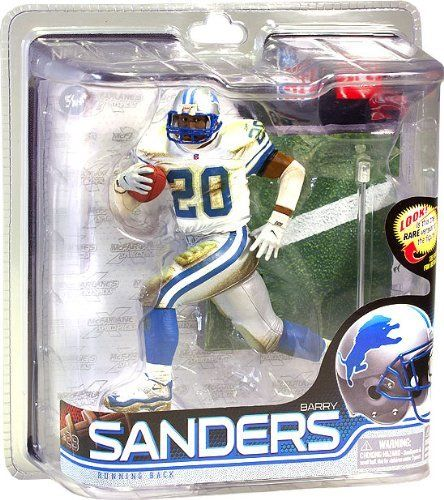 McFarlane Toys NFL Sports Picks Series 28 Action Figure Barry Sanders (Detroit Lions) White Jersey with Mud Bronze Collector Level Chase by McFarlane Toys. $44.99. McFarlane Toys NFL Sports Picks Series 28 Action Figure Barry Sanders (Detroit Lions) White Jersey Silver Pants Individually Serialized Bronze Collector Level (2000 Total Figures Produced) Chase Six Inch Action Figure