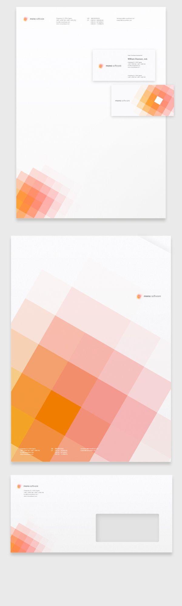 Mono Software Corporate Identity by Krešimir Kraljević, via Behance - Some nice branding here!