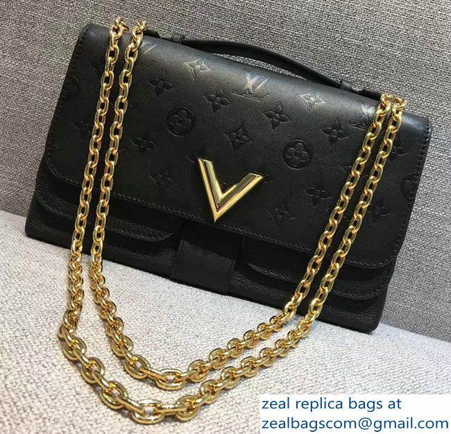 Louis Vuitton Monogram Empreinte Very Chain Bag M42899 Black 2017