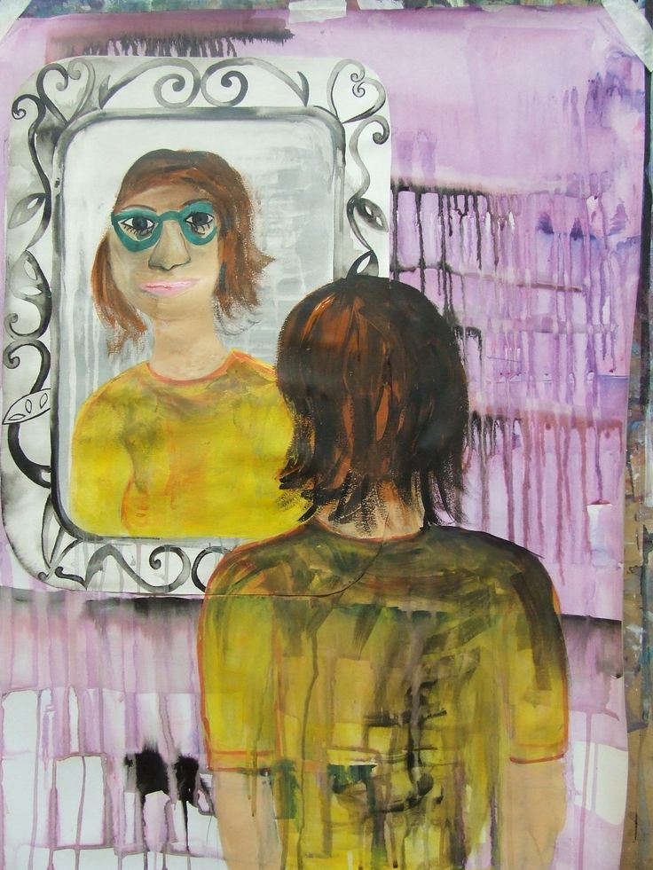 Finished 'Mirror' painting.