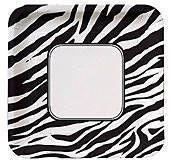 Zebra Print Banquet Plate