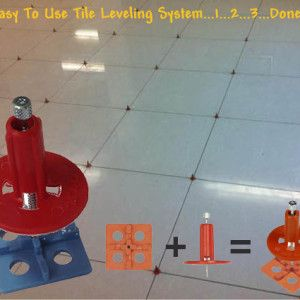 ATR tile leveling and alignment system is a 2 part system with spindles and spacers that eliminate lippage in tile installation. DIY easy-to-use tile leveling system that would result in professional smooth finishes. Grout spacers come in 2mm or 3mm. The system interlocks the tiles together, creating a single flat slab surface while the setting material is curing.  #lippage-free #tile #flooring #leveling-system #reviews ATR tile leveling alignment system http://www.a2zsell.com/