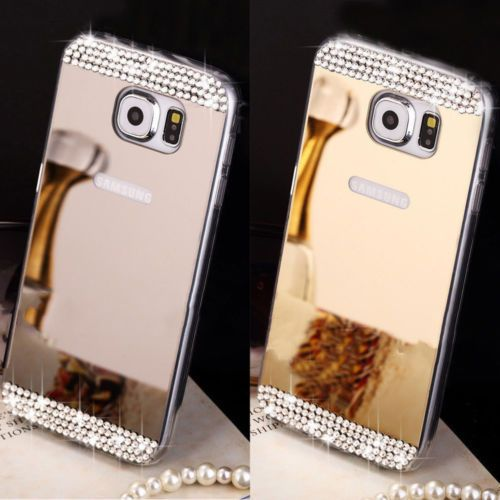 Mirror Crystal `30  Bling Silicone Soft Gel Case Back Cover Samsung Galaxy S5 S6