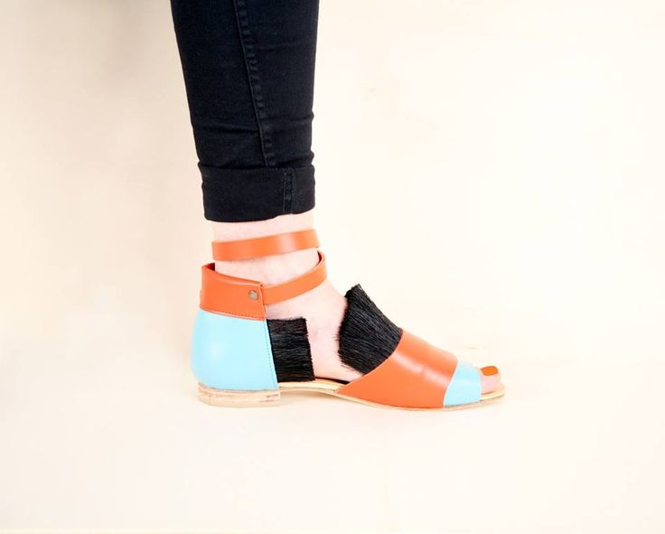 Wild horse -sandals blue/orange. Kuula + Jylhä