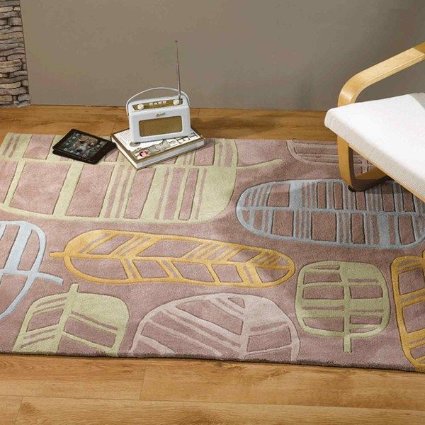 Infinite Seasons Fossil Leaf Natural Green Online From The Rug Er Uk