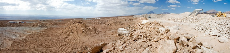 Panoramic view of the Atacama Large Millimeter/submillimeter Array (ALMA) Operations Support Facility (OSF) construction site
