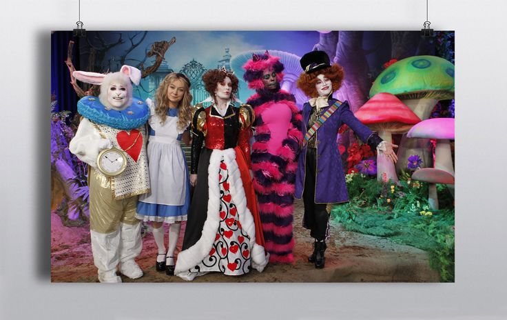 20×12 feet PVC Backdrop. Custom made backdrops also made upon request, contact us for more information. http://www.prophouse.ie/portfolio/alice-in-wonderland/