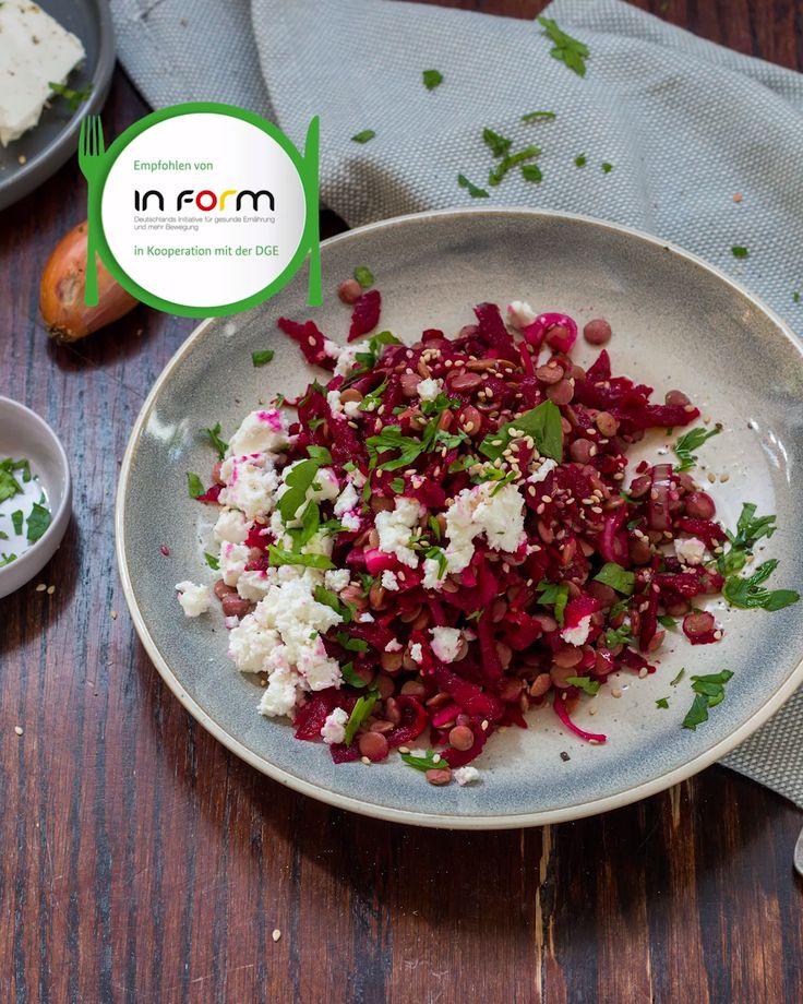 Rote-Bete-Linsensalat   – Meal Prep – das spart Zeit