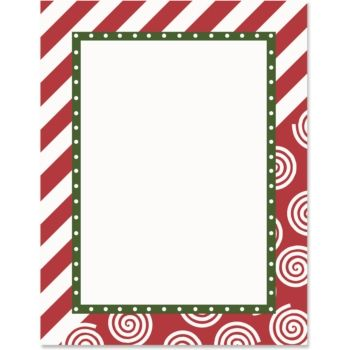 Candy Cane Lane Border Papers | Work Projects | Borders ...