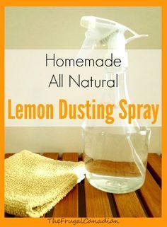 Homemade All Natural Lemon Dusting Polish Spray Recipe