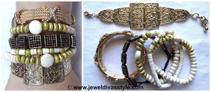 JDS - FROM NOW & ALWAYS BRACELET STACK WHITE - http://jeweldivasstyle.com/designer-inspired-more-bracelet-stacks/