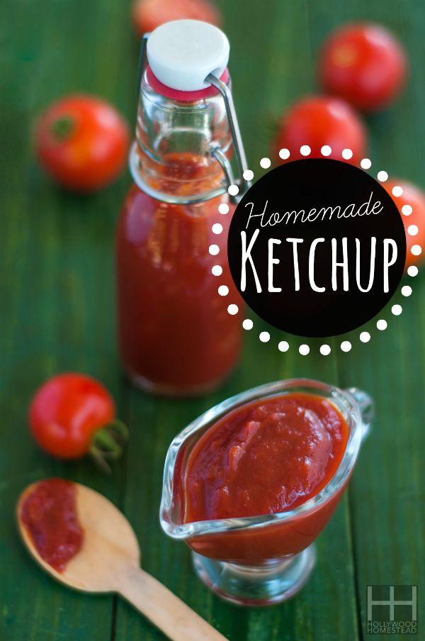 Homemade Ketchup  #HollywoodHomestead