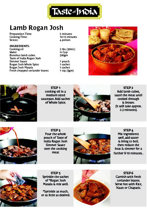 Lamb Rogan Josh Preparation Steps