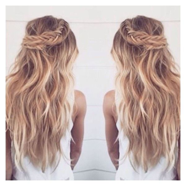 Stunning Braids with Cashmere Hair ❤ liked on Polyvore featuring hair, hairstyles, hair styles and cabelo