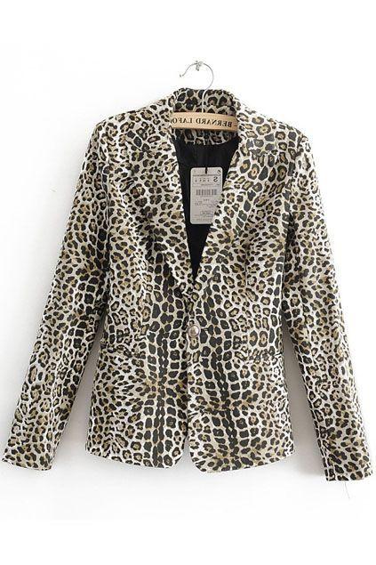 2012 Autumn Leopard Printed Suit
