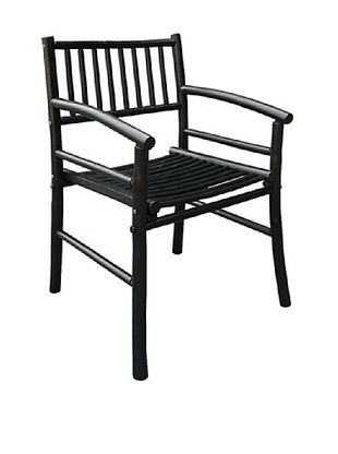 47% OFF ZEW, Inc. Indoor Bamboo Armchair, Black