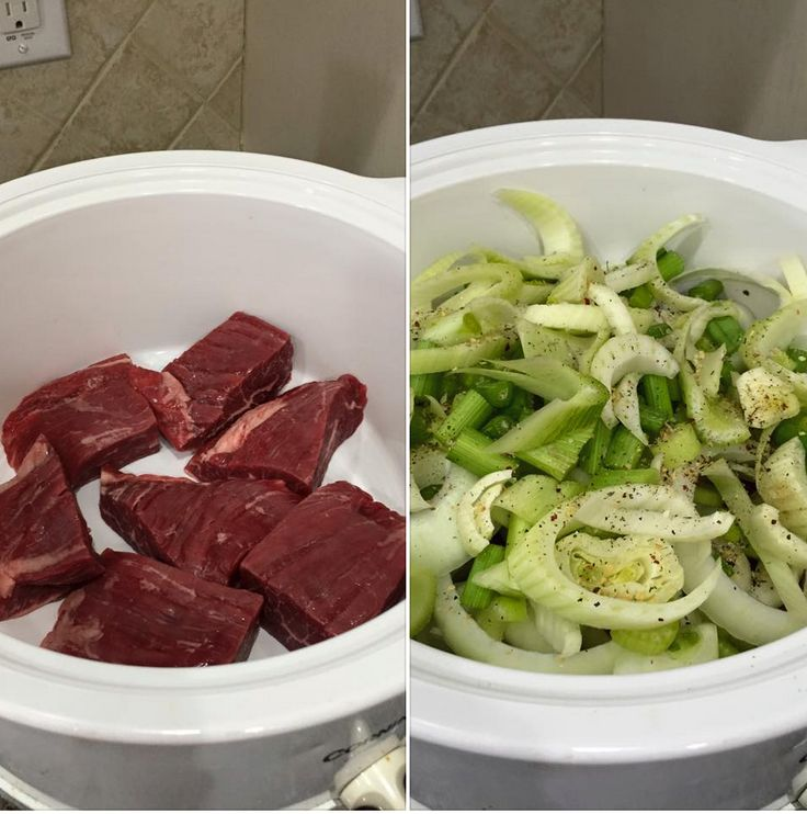 FLANK STEAK: Cut steak into 4oz portions. Cover bottom of crockpot with water (not much). Add Fennel, onions, celery, radishes, and Italian seasoning(various herbs). Cook for about 4 hours. Added recipe: Also, there should be plenty of juice and onions left that's full of flavor. I recommend you keep it. I used that with a left over portion of steak that I chopped up in cubes, added cabbage, spinach and tomatoes.