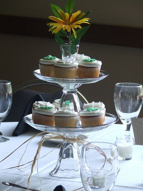 Tiered Cupcake Centerpiece by Ryke's Bakery . Catering . Cafe, via Flickr