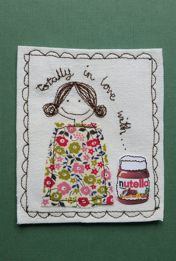 Nutella Queens this is the perfect gift for you. A totally original design handmade by Justsosara. This textile picture can be framed or displayed as
