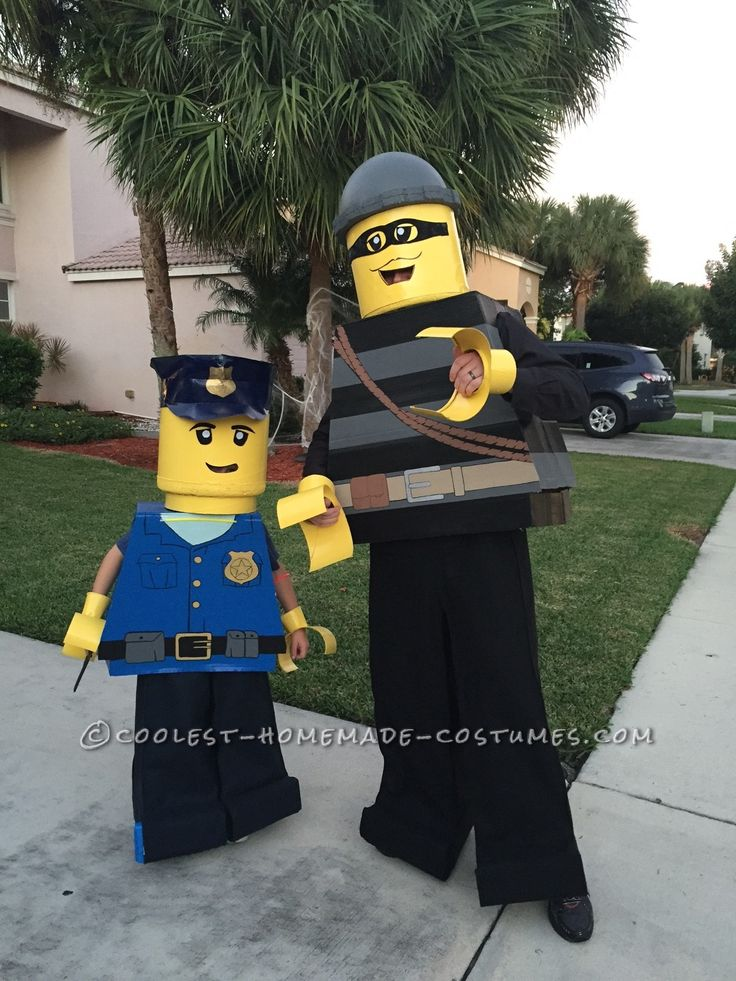 Cool Father/Son Costume: Lego City Police Officer and Burglar... Coolest Halloween Costume Contest