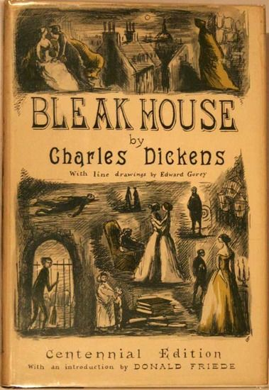 Edward Gorey Book Cover. My second favorite Dickens's novel with illustrations by one of my favorite illustrators.
