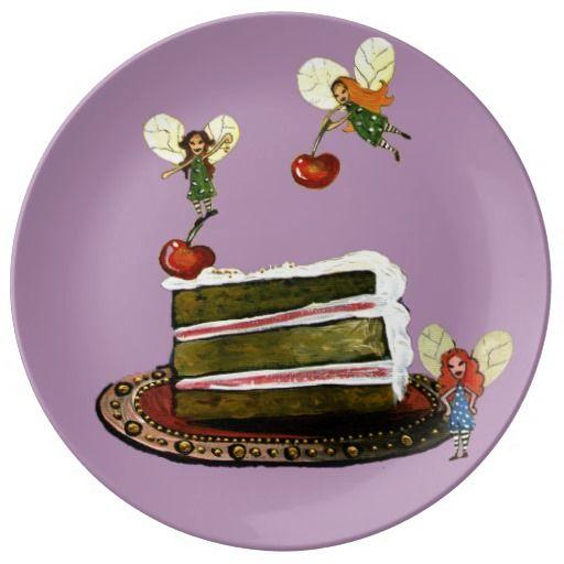 Cake Time Fairies Porcelain Plate