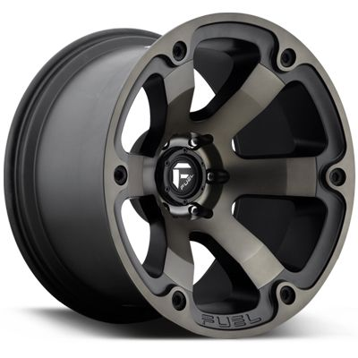 "FUEL D564 ""BEAST"" Wheel in Satin Black with Gray Spokes for 07-17 Jeep Wrangler JK & JK Unlimited"
