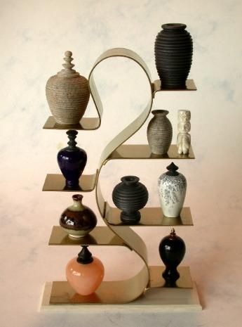 J. Getzan Dollhouse Miniatures Displays Baker's Racks Wrought Iron