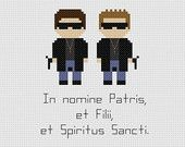 The Boondock Saints Quote Cross Stitch Pattern
