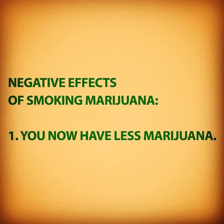 The only negative effect of smoking marijuana From RedEyesOnline.net