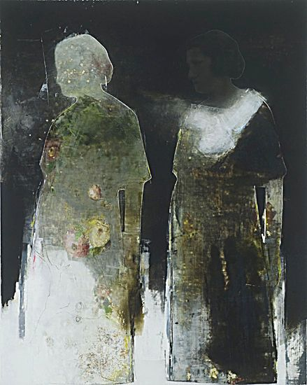 Almost looks like a photo transfer. Still life wallpaper 2008 oil on canvas, 152 x 122 cm by Richard Morin