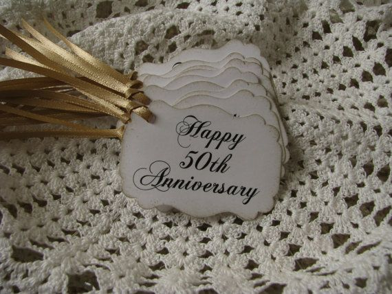 Happy 50th Anniversary Tags Favors Party By