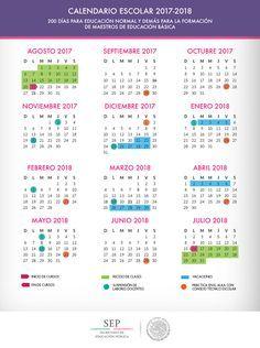 Calendario escolar 2017-2018 de 200 días