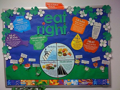 This bulletin board was created for health department staff in March (Nutrition Month) to remind them about the benefits of healthy eating.
