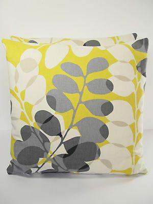 Harlequin SCION Lunaria Vtg/Retro Scandinavian Fabric Cushion Cover Yellow/Grey | eBay